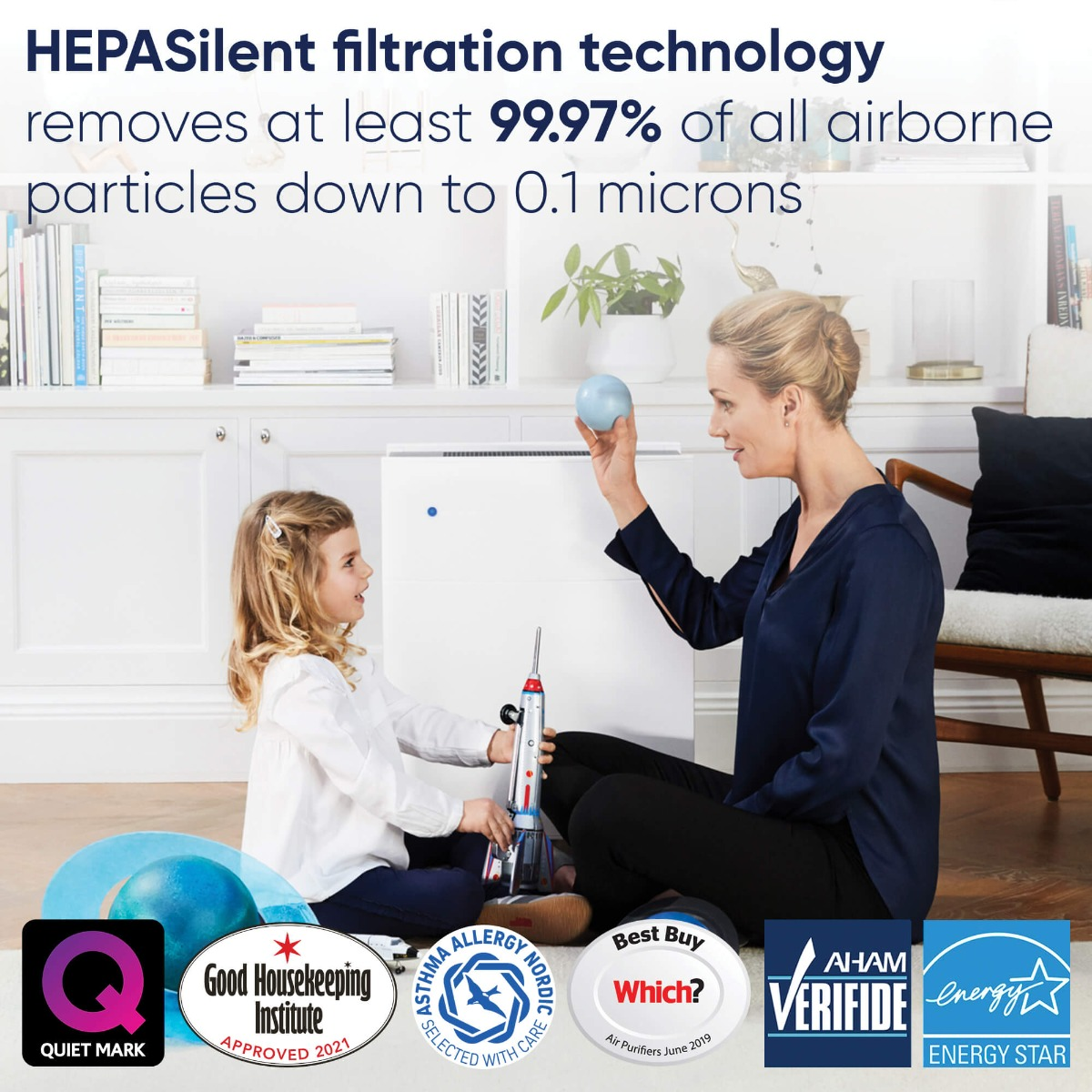 Blueair Classic 405 HEPASilent Filtration