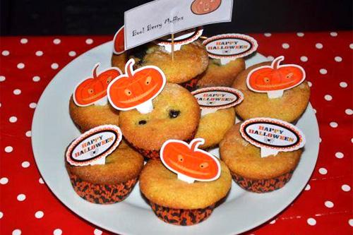 Halloween Blueberry Muffins