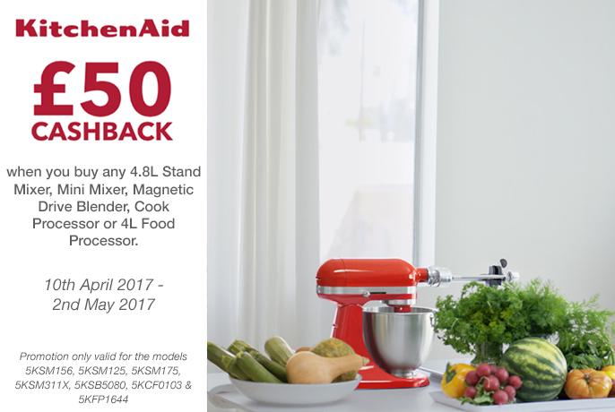 KitchenAid £50 Cashback - until 2nd May 2017