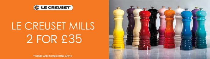 Le Creuset 2 Mills For £35