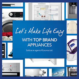 Let's make life easy with top brand appliances