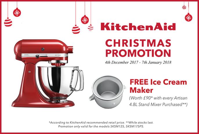 Kitchenaid Artisan Stand Mixers Christmas 2017 Promotion